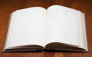 blank open book photo