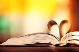 heart of the book leaves background