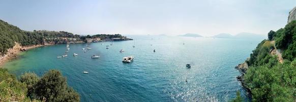 panoramic sea and coast italy