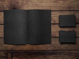 Open black book