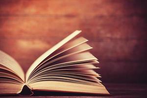 Open book with antique tones