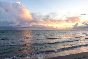 Sunrise. Mediterranean Sea. Spain.  September 2015 photo