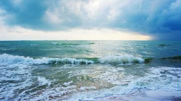 The stormy sea, abstract, dark background photo