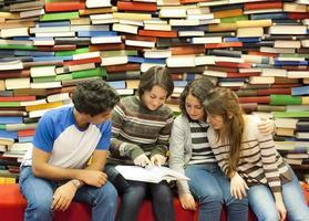 students at library photo
