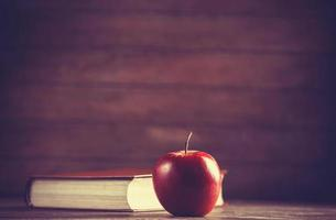 Apple and the book. photo