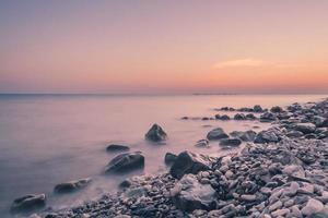 sunset on the sea photo