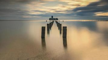 Baltic sea at beautiful landscape - long exposure time