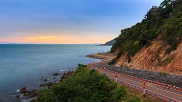 Crove road in view point beside the sea photo