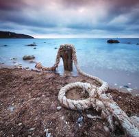 Rope on sea