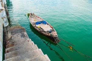 fishing boat on a calm sea.