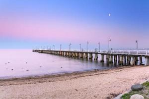 Wooden pier at Baltic sea in Gdynia