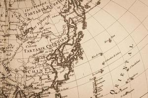 Old world map, Japan and East Asia