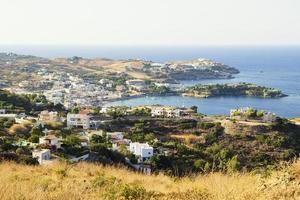 Town on the Crete Coastline, Greece.