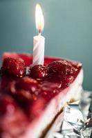 pastel de queso de cumpleaños