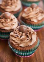 deliciosos cupcakes de chocolate foto
