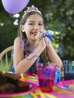 Portrait Of Girl At Birthday Party