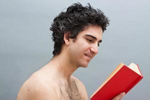 Reading a fun book photo