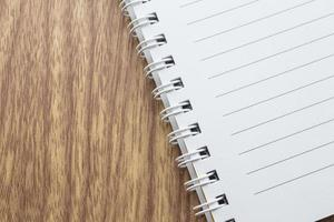 notepad on the wooden table
