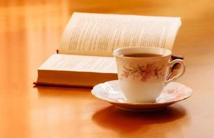 Cup of tea and book