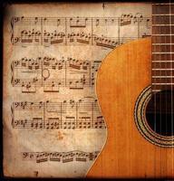 anitique guitar photo