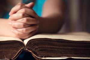 Hand On Bible photo