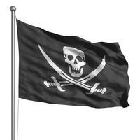 bandiera pirata (isolata)