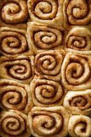 Unbaked cinnamon rolls photo