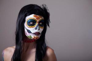 Sugar skull girl portrait photo