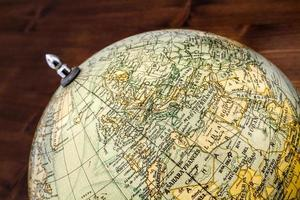 Old world globe: Europe and North Africa photo