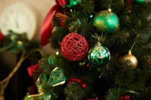 primer plano del árbol de navidad