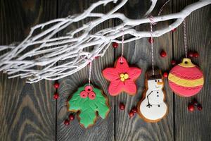 decoração de natal com pão de mel