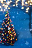 luz de árbol de navidad de arte