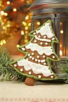 galleta de árbol de navidad foto