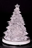 árvore de natal de vidro