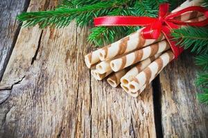 galletas de navidad a rayas