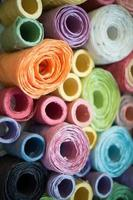 colorful roll mulberry paper background and texture