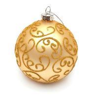 Yellow christmas ball photo