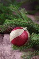 postal de navidad decorativa