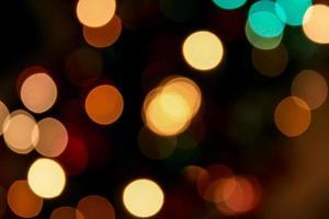 Blurred light, Bokeh effect