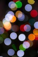 Blurred christmas tree lights isolated