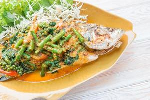 Spicy Sea Bass Soupsteamed, Thai style steamed fish