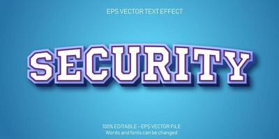 beveiliging 3d bewerkbaar teksteffect vector