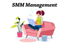 SMM Management design vector