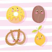 Cute cartoon food design vector