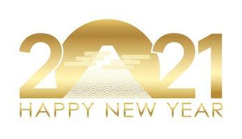 saludo dorado de año nuevo 2021