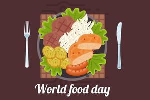 diseño del día mundial de la alimentación con plato