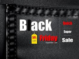 Jean Texture Black Friday Bale Banner vector