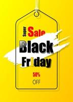 Yellow promotion label for Black Friday vector