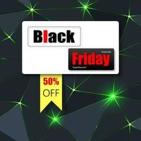 Black Friday green sparkle banner vector