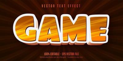 efecto de texto editable de estilo de dibujos animados de juego